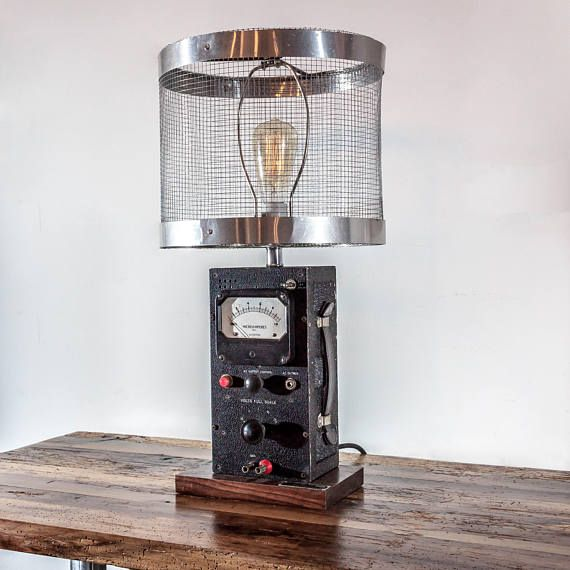 Born as an ammeter around 1952 at Ballantine Laboratories in Boonton, NJ this one-of-a-kind piece retired a few years back, and is ready to start its new job - conversation piece in your house. As usual, we took things to another level, so: - The big knob in the middle is the lights