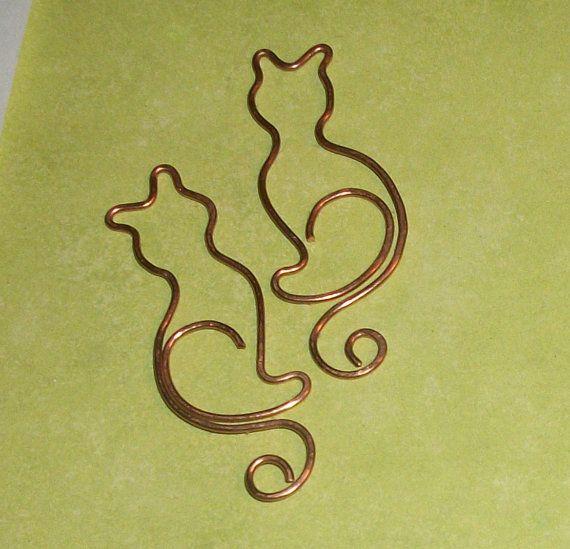 Dije de gatos de alambre :: Cats wire pendants