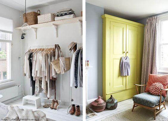 Temporary Wardrobe Idea For Moving In