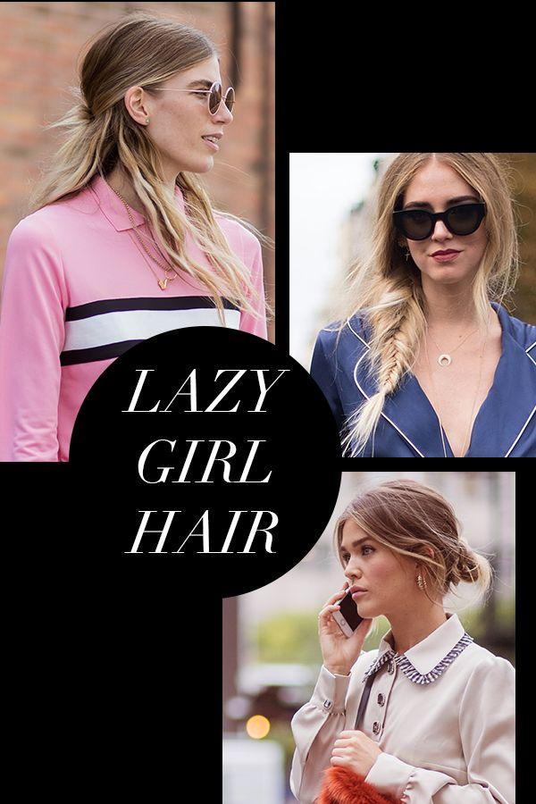 Lazy hairstyles for medium hair.  Lazy girl hair!