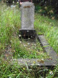 Margaret Lowe's grave at Waikumete Cemetery near Auckland