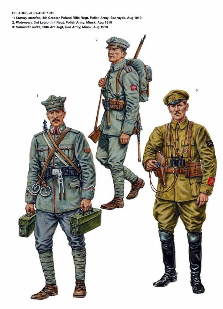 Russo-Polish War 1919-1921. Belarus July -October 1919