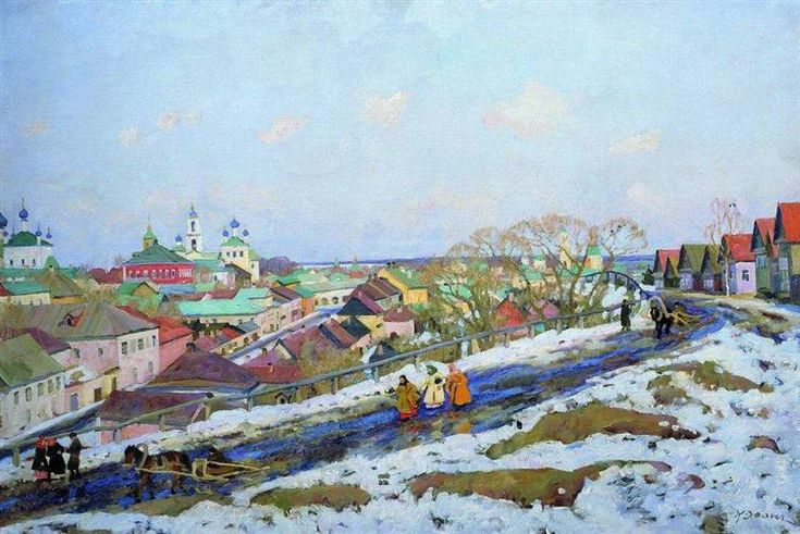 In The Province. Torzhok. Tver Governorate, 1914 by Konstantin Yuon. Post-Impressionism. landscape