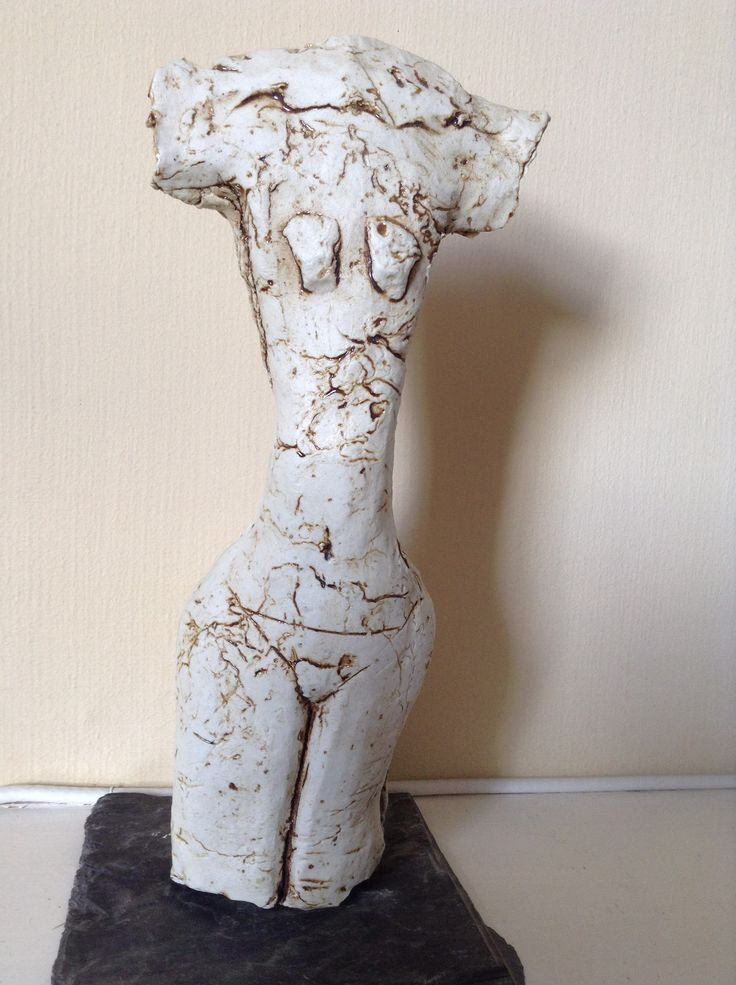 Ceramic female form.