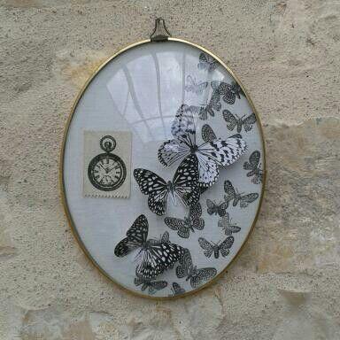 Papillons cadre bombé