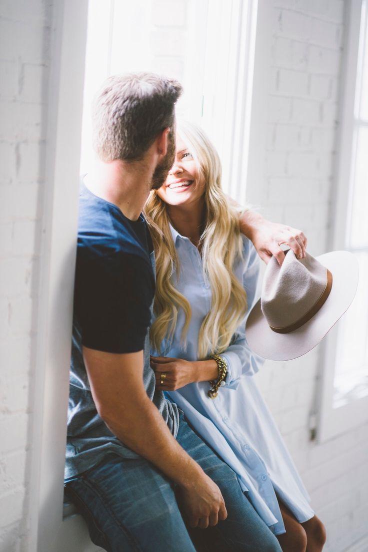 Couples shoot. Engagements. Studio shoot. White studio. Cute couple. Blonde couple. Blogger couple. Chase Allen. Brit Andrus. Ashlee Brooke photography. Billabong. Lulus. J crew.