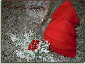 piegare tovaglioli albero natale_www.prodottitipicitoscani.it