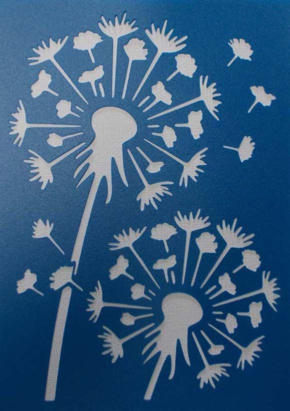Dandelion Stencil by kraftkutz on Etsy