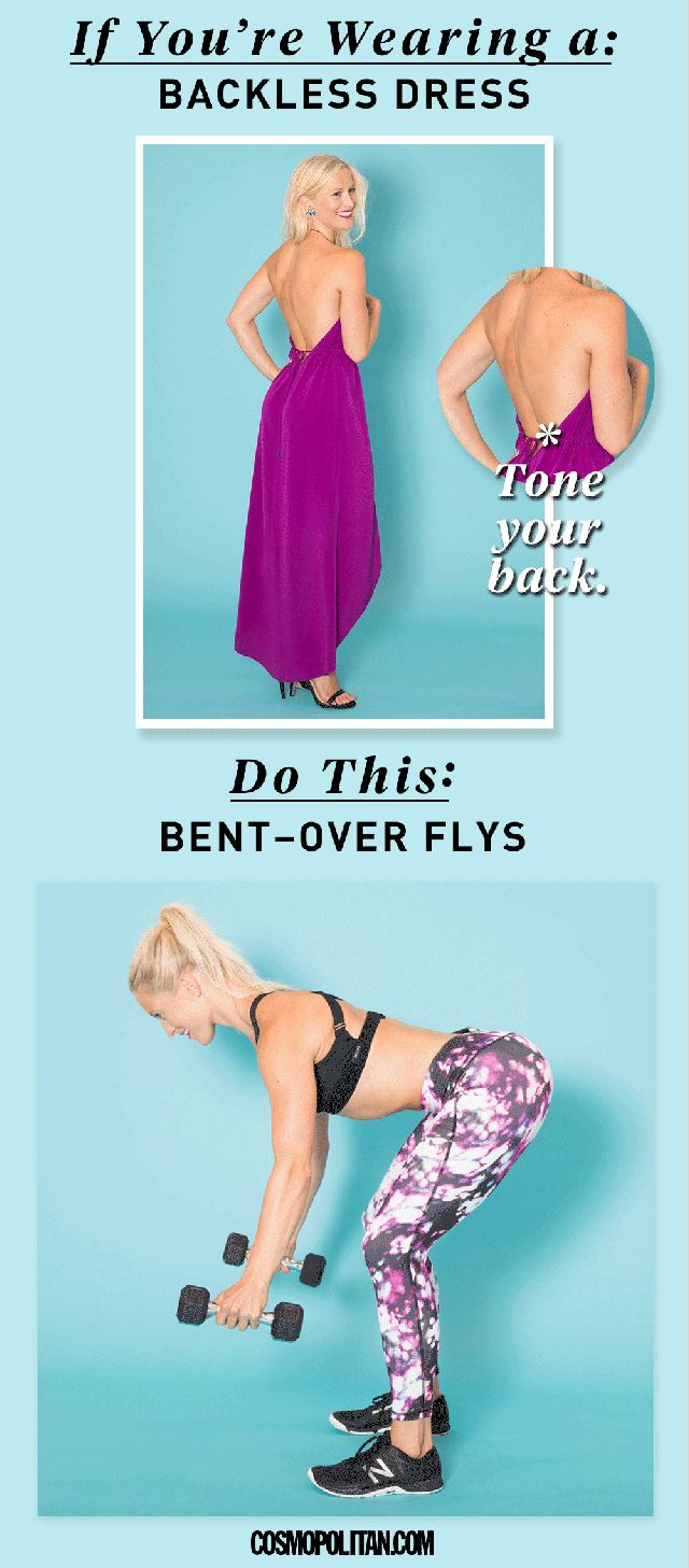 Open-back dresses can leave quite the impression, and bent-over flies can help you sculpt an even sexier back.