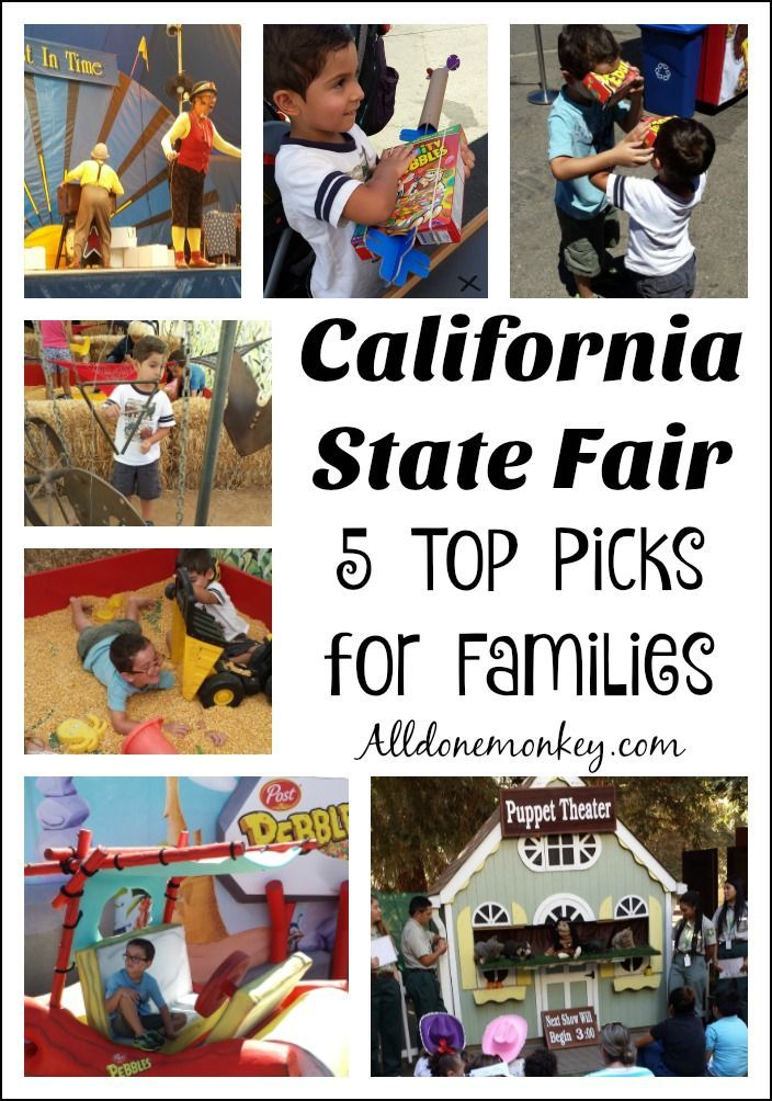 The California State Fair is a wonderful place to visit with kids. Here are our top picks for families with young children.
