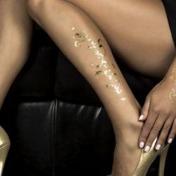 Bijoux per la pelle Goldsin Foglie d'Oro - Oro 24 Carati - LA LIBERTINE