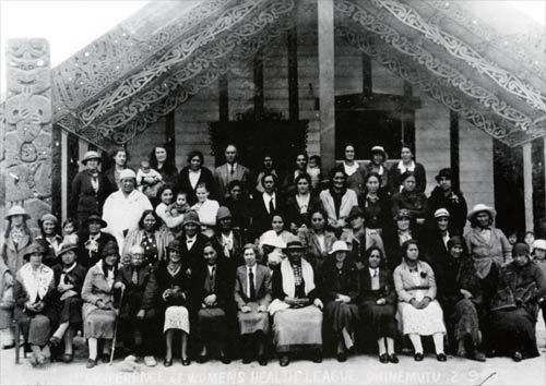 Photo from a new book in our Maori collection on the 2nd floor - Women's Health League: Memories 1937-2012. This hui was at Tunohopu Marae, Ohinemutu, in 1937. 362.1 WOM