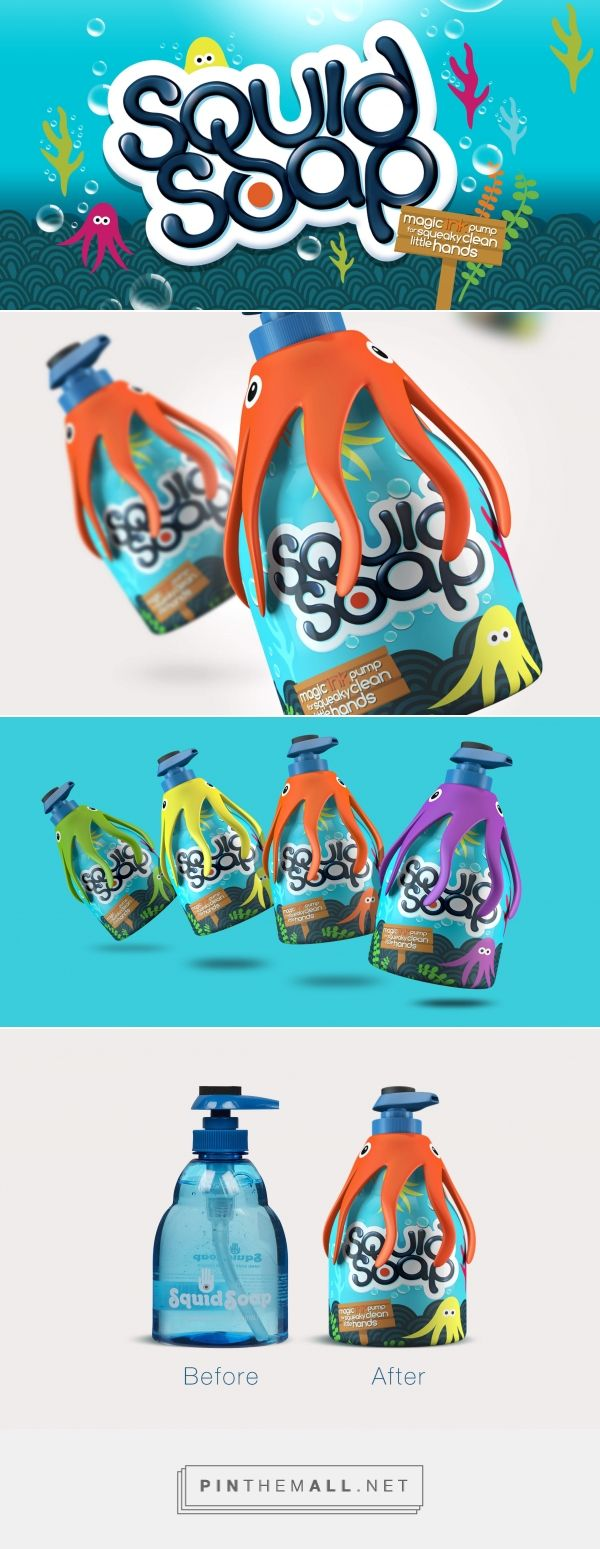 Fun repackaging for Squid Soap Kids By Design Happy curated by Packaging Diva PD. Who doesn't like a cute squid for the packaging smile file : )