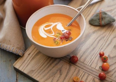 Chilled Heirloom Tomato Soup | Vegetarian Times