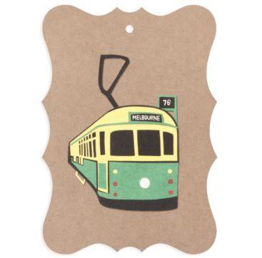 Gift tag - Melbourne Tram - Bobangles #SundayPaper #Australia #gift #tag #Melbourne