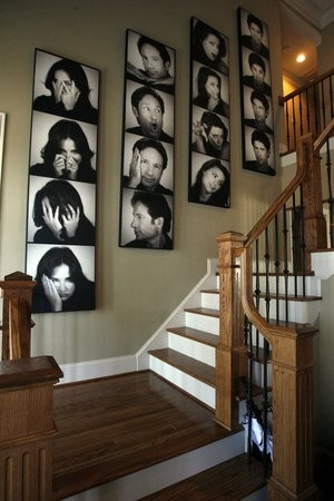 Gorgeous family photo idea < love this for a staircase wall...