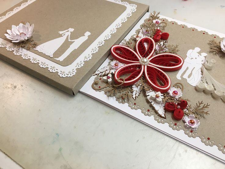 Bryllupskort med kuvert