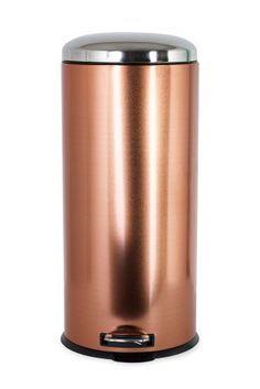Copper Effect 30L Soft Close Pedal Bin