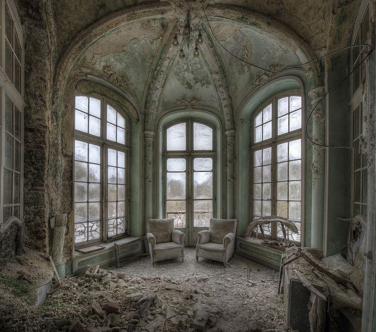 The architecture and beauty in this abandoned castle blows my mind...