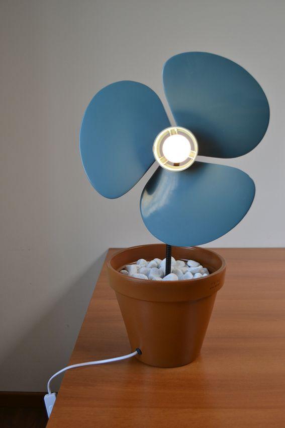 EMANUELE GABUSI  - VentilaFiore  #art #lamp #light #lampada #scartline #recycle #riciclo #design