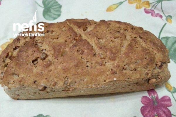 Cevizli Tam Buğday Ekmeği (Baton Kalıpta)