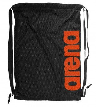 Arena Black Fast Mesh Bag - Orange