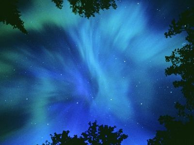 Northern Lights Or Aurora Borealis, Tilton Lake, Sudbury, Ontario, Canada.  Photographic Print  by Mike Grandmaison