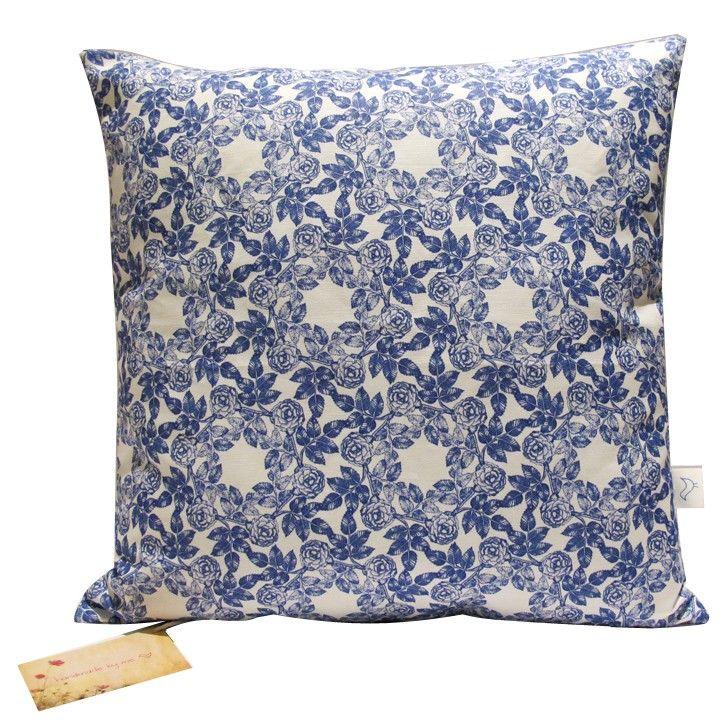 Handmade by me   Indigo Blue Cushion   Homeware   5rooms.com