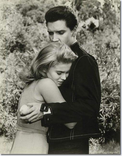 """Elvis Presley and Ann-Margret on the set of """"Viva Las Vegas"""" (1964). Description from pinterest.com. I searched for this on bing.com/images"""