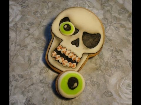 cookie decorating skull halloween cookie design - Halloween Cookies Decorating Ideas