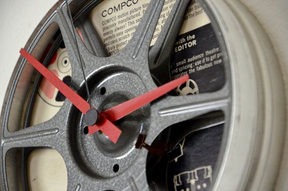 Vintage 16mm Film Reel Clock