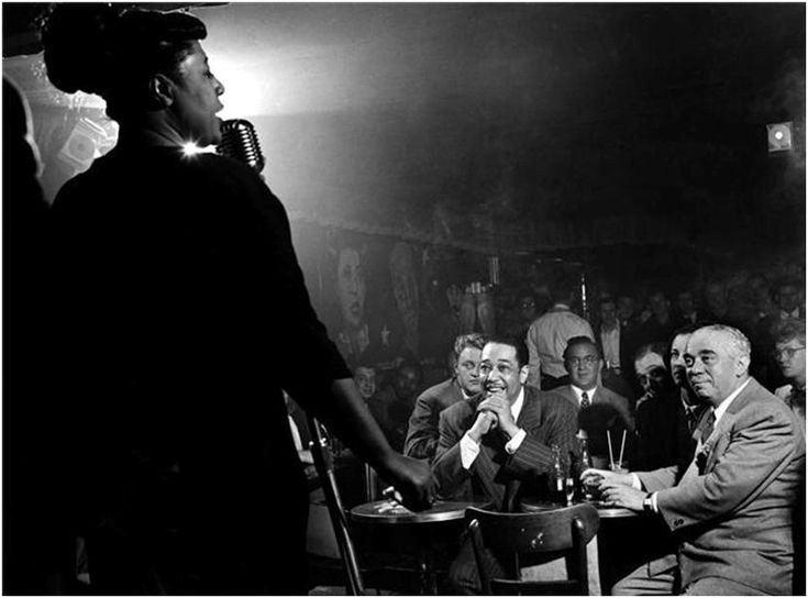 Ella Fitzgerald, Duke Ellington & Benny Goodman, New York, 1948 | via
