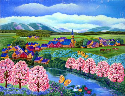 Butterflies in the Spring by Aniko Szabo