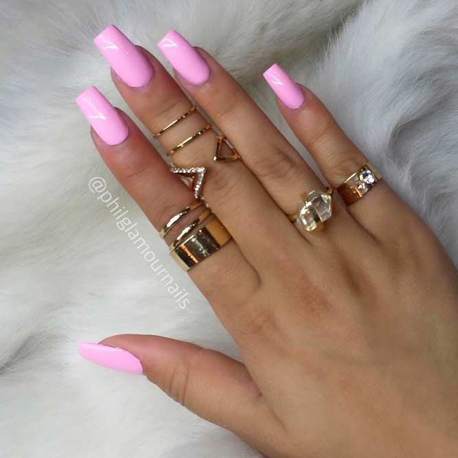 Trendy Pink Acrylic Nail Designs picture 3