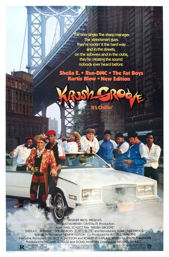KRUSH GROOVE Movie Poster NYC Hip-Hop Rap