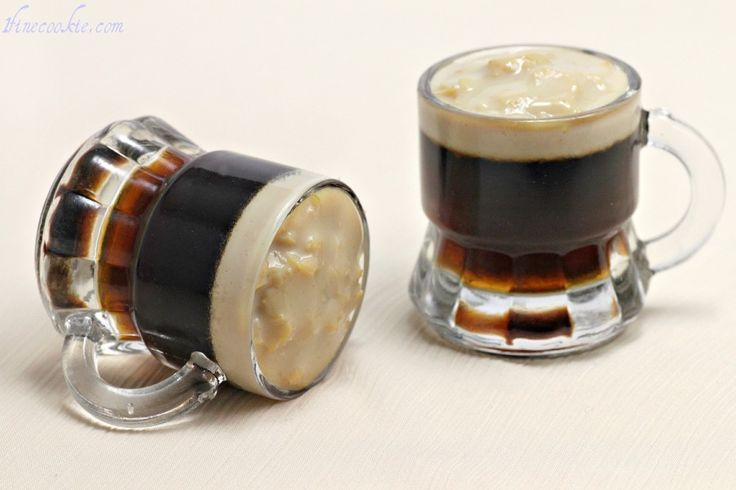 OMG! Beer Jello Shots. Guinness for Saint Patty's Day, or Regular for Whenever. In Tiny Beer Mugs With Tiny Foam Heads.  From 1Fine cookie