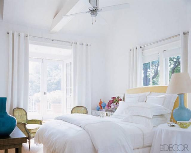 7 Beautiful Celebrity Bedrooms with Bad Feng Shui: Sarah Jessica Parker's Master Bedroom