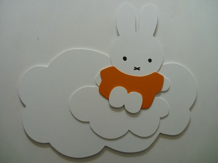 Slaapkamer : Nijntje op wolk Figuren MDF-Deco.nl Houten muurdecoraties ...