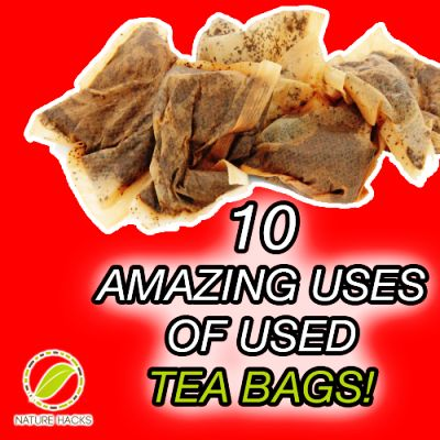 10 Amazing Things You Can Do With Used Tea Bags...you'll need to click through twice.