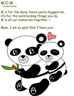 Cute poem to use in Mother's Day Cards