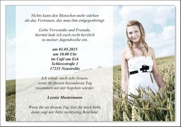 Text F R Einladung Zur Jugendweihe Einladung Jugendweihe Jugendweihe Jugendweihe Einladungskarten