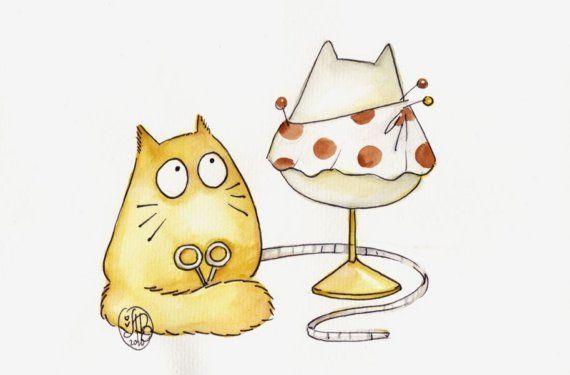 too cute cat cartoon