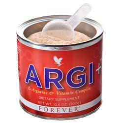 ARGI+ ARGI+ fornisce tutta la carica energetica proveniente dalla L'Arginina. Unita a: melograno, noto per le sue proprietà antiossidanti; estratto di vino rosso, che aiuta a mantenere salutari livelli di colesterolo; estratti di buccia d'uva e bacche per la salute del sistema cardiovascolare e immunitario. Tutti questi ingredienti lavorano in sinergia e contribuiscono al miglioramento dello stato di benessere generale.Contenuto: 300g.