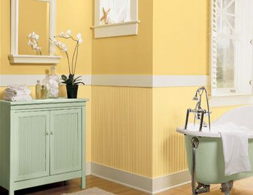 1000 ideas about yellow bathroom paint on pinterest for Bathroom yellow paint