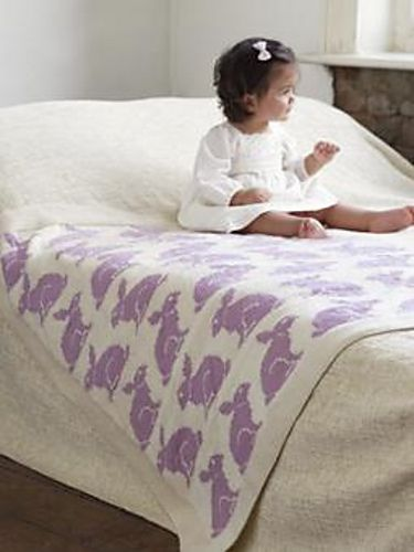 We Like Knitting Bunny Blanket Buddy Free Pattern
