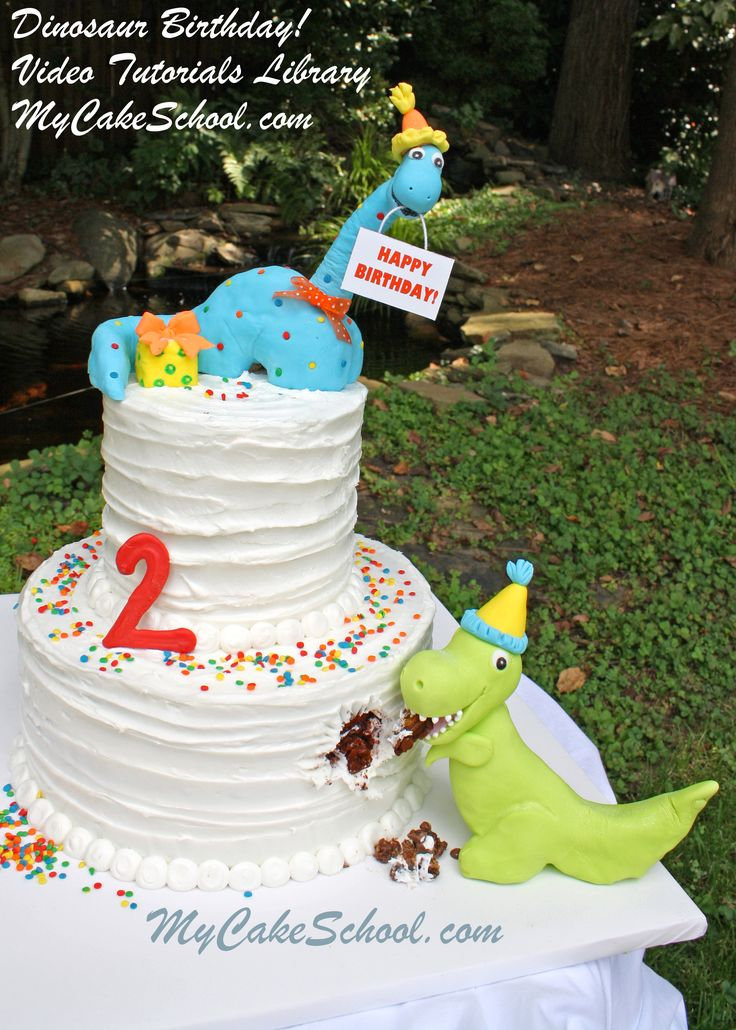 Dinosaur Birthday!  One of many video tutorials for members posted to MyCakeSchool.com!