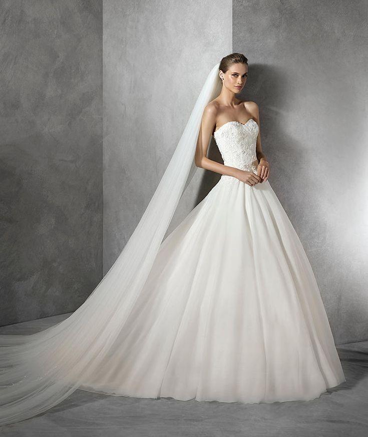 Tendy, Brautkleid mit Spitze und herzförmigem Dekolleté