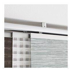 IKEA - KVARTAL, Herraje para techo, Permite fijar el riel KVARTAL al techo sin que queden tornillos a la vista.