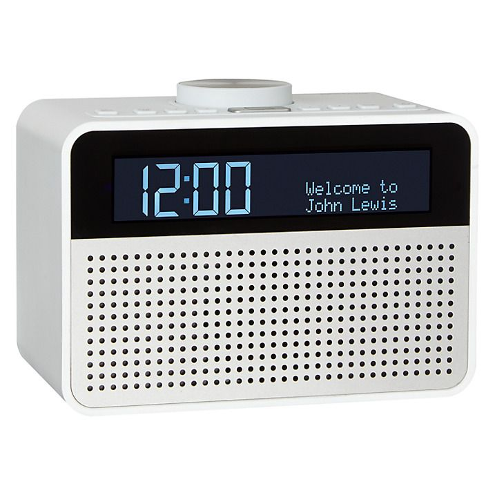 Buy John Lewis Astro DAB+/FM Digital Clock Radio with Alarm & LCD Display…