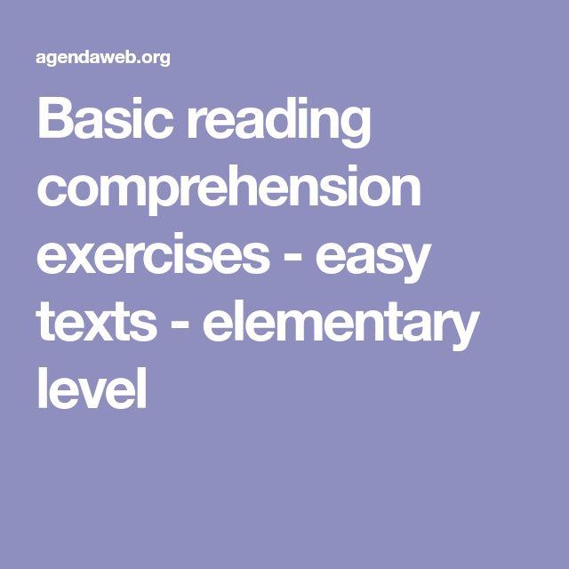 Basic reading comprehension exercises - easy texts - elementary level